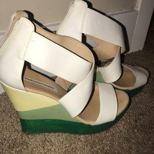 Diane von Furstenberg Ombré Wedge Sandals